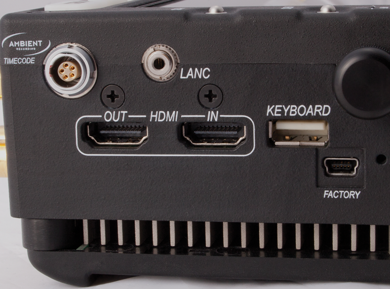 Side controller ports.