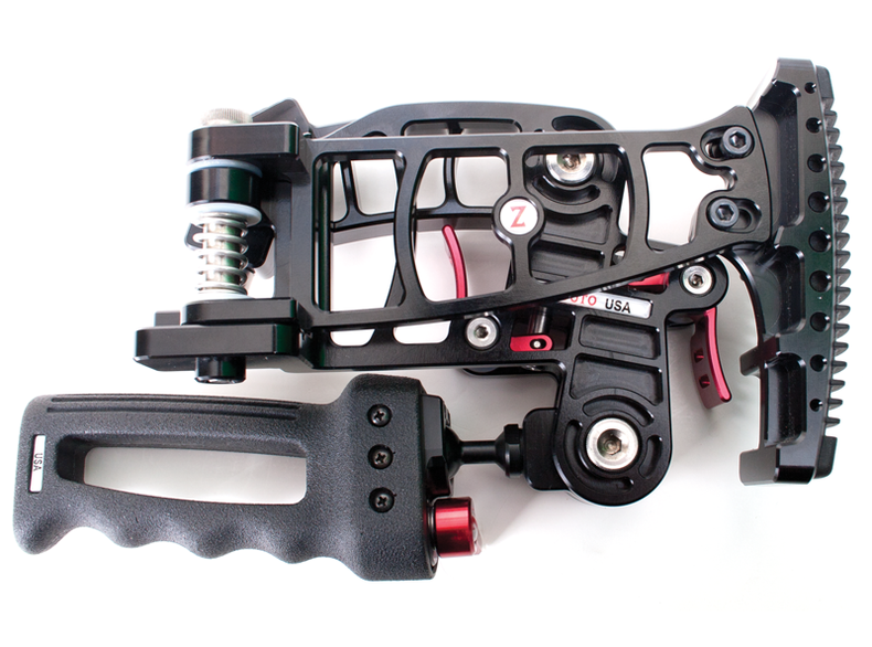 Shot of the Zacuto Marauder folded down for storage and portability.