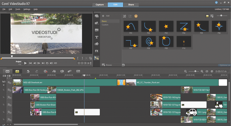Motion editing view