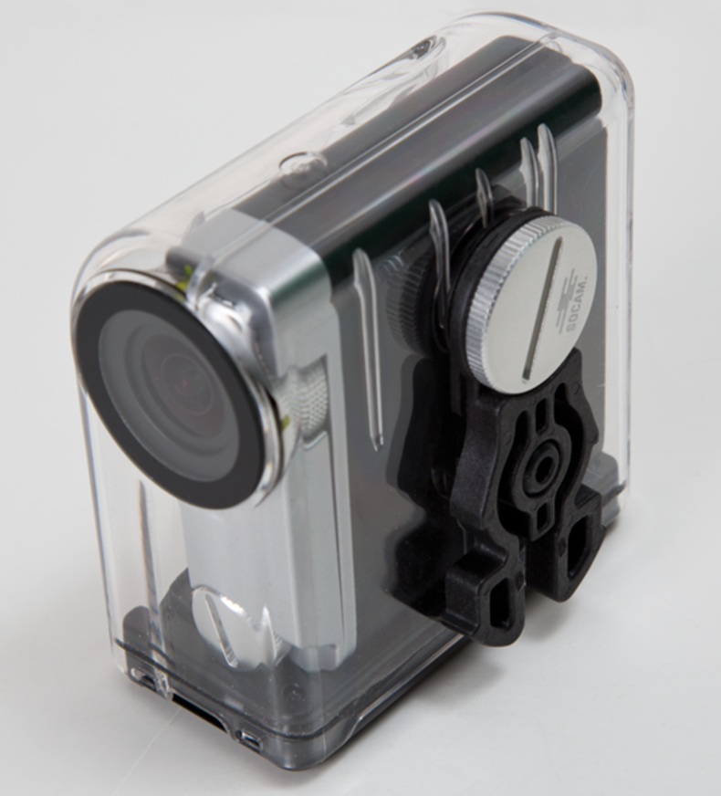 Shot of SOCAM UltiMate Splashproof casing with clip