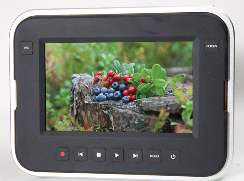The Blackmagic Production Camera 4K's touch-sensitive screen