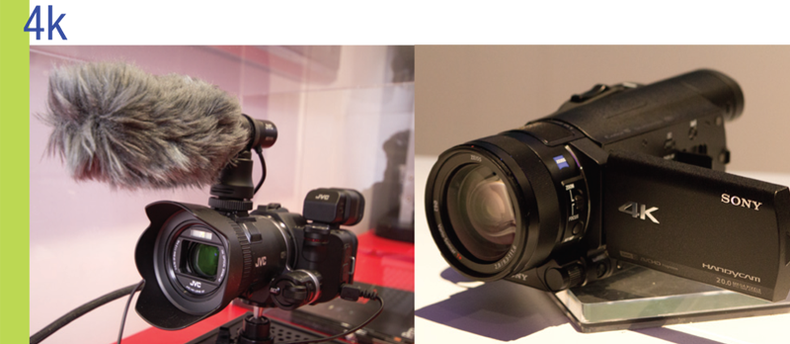 4K camcorders from JVC and Sony