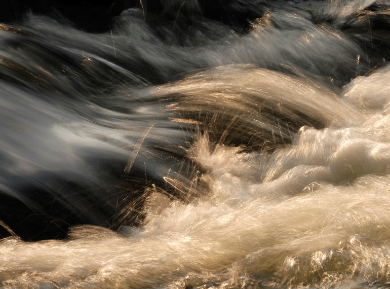Slow motion shot of a waterfall