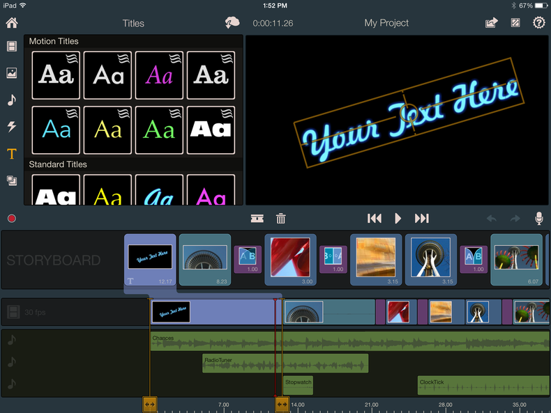 Pinnacle Studio for iPad ($13, iOS 6.0 or later)