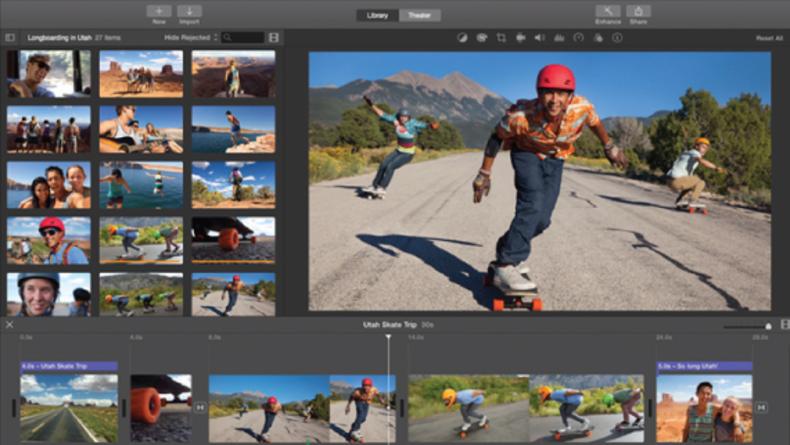Screen grab of iMovie