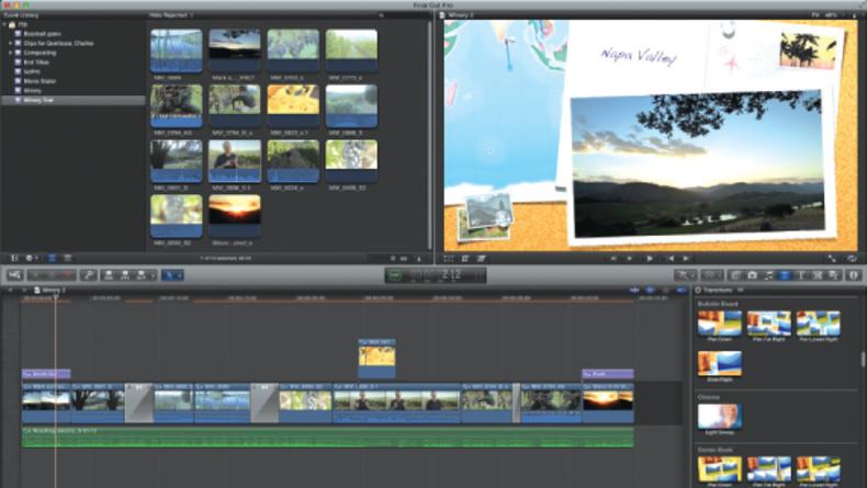Screen grab of Final Cut Pro
