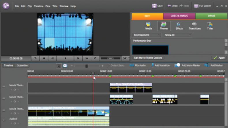 Screen grab of Premiere Elements