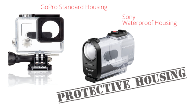 Action Cam Protective Housing including GoPro Standard Housing and Sony Waterproof Housing