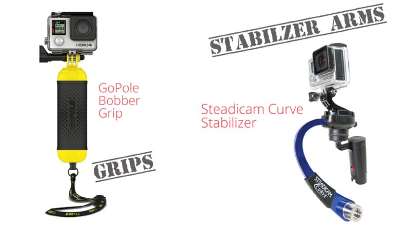 Action Cam GoPole Bobber Grip and Steadicam Curve Stablilizer