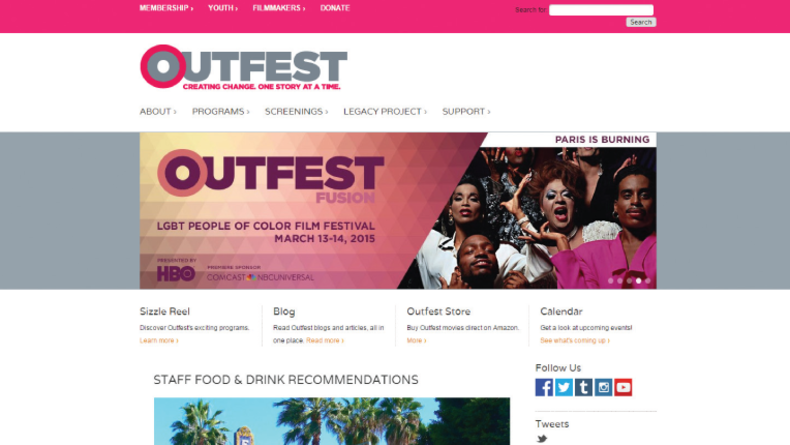 Outfest festival site