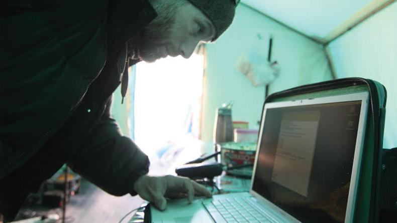 GARRY at computer