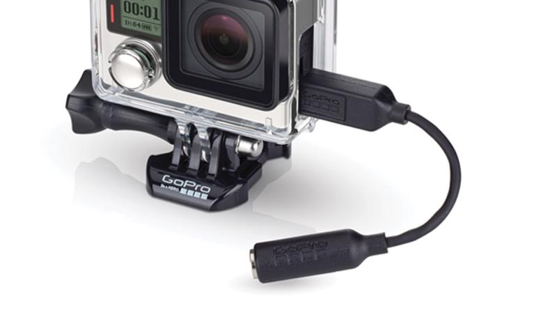 GoPro's optional mic adapter