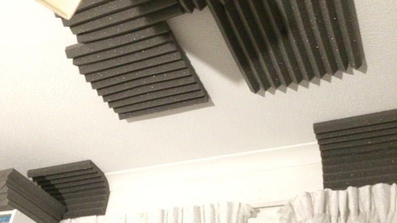 The ceiling above my listening position.