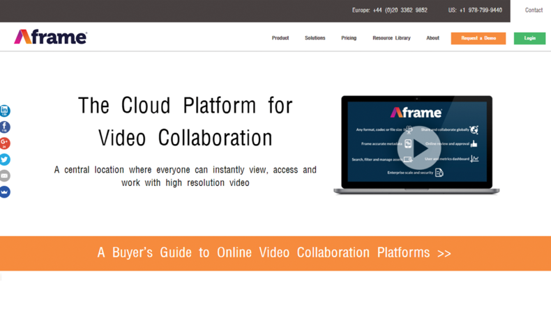 For serious professionals, Aframe offers a comprehensive toolset starting at $1,000 per month.