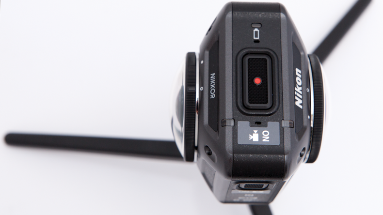 Dual lenses capture a 360 degree view