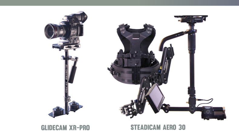 Glidecam XR-Pro and Steadicam AERO 30