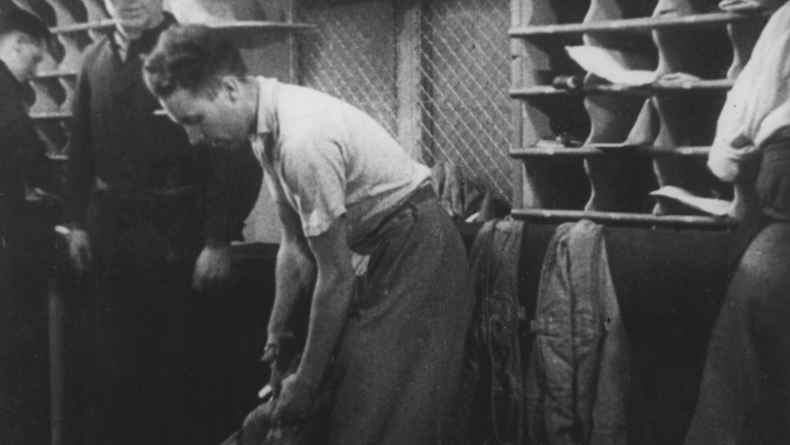 "Part propaganda piece, part work of art, ""Night Mail"" documents the life of mail workers on the nightmail train. It's also one early example of sound accompanying actuallity footage."