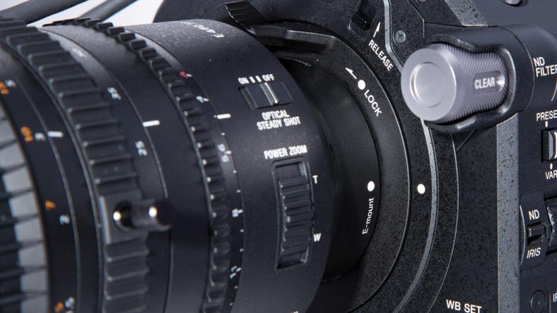 Sony PXW-FS7M2 XDCAM lens locking mechanism