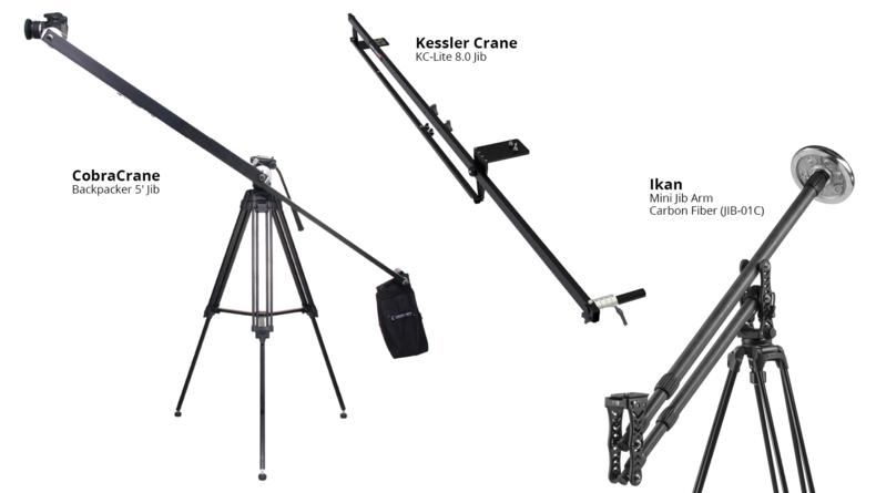 CobraCrane Backpacker 5' Jib, Kessler Crane  KC-Lite 8.0 Jib and Ikan Mini Jib Arm  Carbon Fiber (JIB-01C)