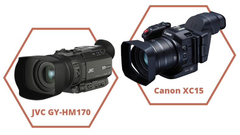 JVC GY-HM170 and Canon XC15