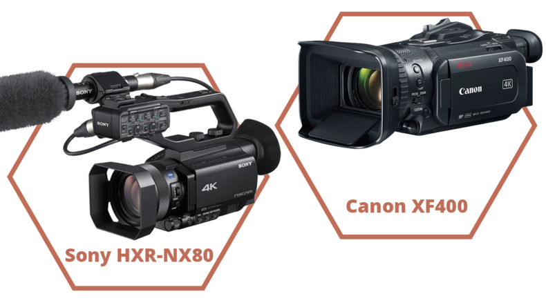 Sony HXR-NX80 and Canon XF400