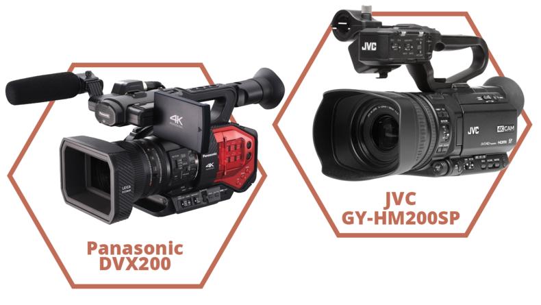 Panasonic DVX200 and JVC GY-HM200SP