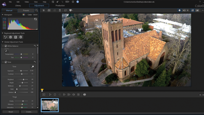 ColorDirector allows you to adjust color and add looks.