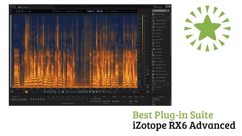 Best Plug-in Suite iZotope RX6 Advanced