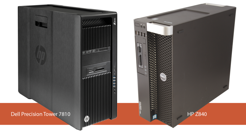 Dell Precision Tower 7810 and HP Z840