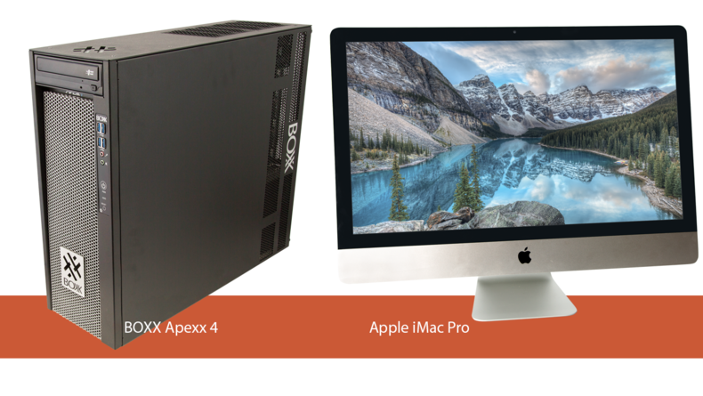 BOXX Apexx 4 and Apple iMac Pro