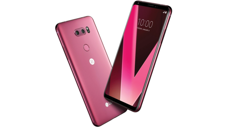 LG's new V30 phone with dual rear cameras.
