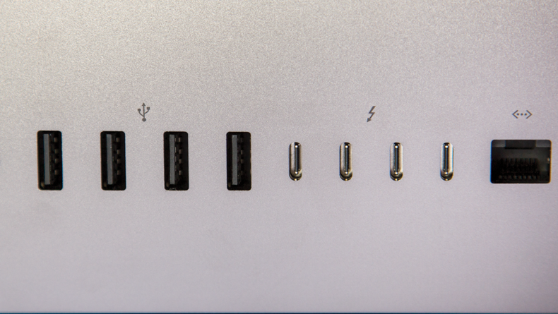 A variety of ports for different connection types