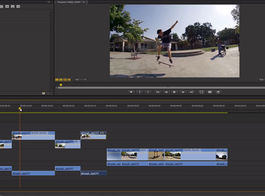 Video Editing Timeline with Skateboarder