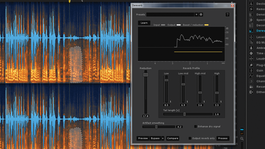 Screen grab of iZotope's dereverb tool