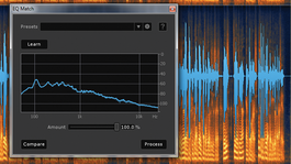 Screen grab of iZotope's EQ Match