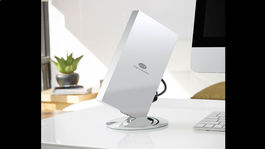 storage device at a desk
