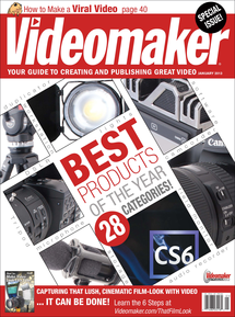 Videomaker January 2013 image featuring Best Products of the Year Article