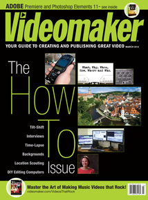 Videomaker March 2013 cover