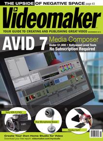 Videomaker November 2013 cover featuring Avid 7 Media Composer