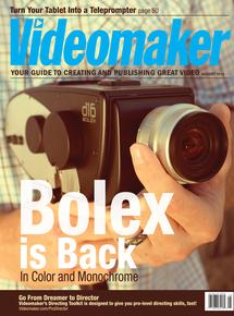 Videomaker August 2014 Cover featuring the Digital Bolex D16