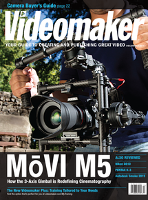 December 2014 Cover featuring the MoVI M5 in use