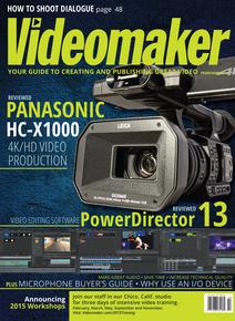 February 2015 Cover featuring Panasonic HC-X1000 and PowerDirector 13
