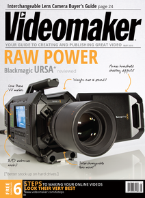 Videomaker May 2015 cover featuring Blackmagic URSA