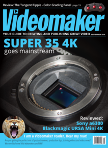 Videomaker September 2016 Cover featuring Sony Exmor CMOS Sensor in Sony a6300