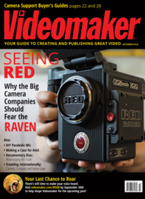 Videomaker October 2016 Cover featuring RED RAVEN