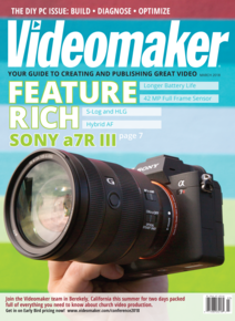 Videomaker March 2018 Cover featuring the Sony a7R III