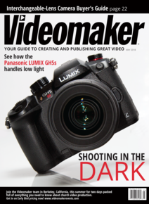 Videomaker May 2018 cover featuring the Panasonic LUMIX GH5s