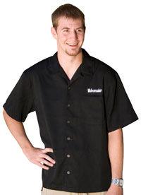 Black Professional-Casual Camp Shirt