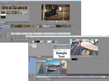 Sony Creative Software Movie Studio 13 Editing Software user interface examples