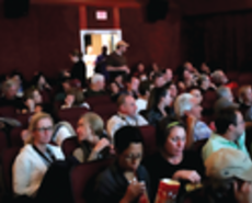 Crowd at movie theater